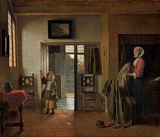 The Bedroom (Karlsruhe) - Image: Pieter de Hooch The Bedroom Google Art Project
