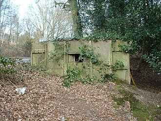 British hardened field defences of World War II - Pillbox type FW3/26, prefabricated construction.