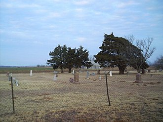 Pine Ridge, Oklahoma - The Pleasant View Cemetery at Pine Ridge has graves from many of the early pioneers of the community.