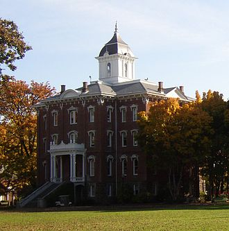 Linfield College - Pioneer Hall, built in 1882.
