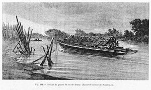 Kingdom of Bonny - Royal Canoe of the Kingdom of Bonny, 1890