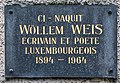 Plack um Gebuertshaus vum Wilhelm Weis 01.jpg
