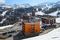 Plagne Centre, facing east, April 2017.jpg
