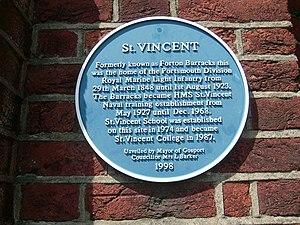 St Vincent College - Blue plaque