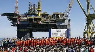 Lula oil field - Brazilian President Lula da Silva on the launch of the P-52 oil Platform