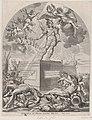 Plate 1- Ferdinand as Mars, standing on a pedestal; from Guillielmus Becanus's 'Serenissimi Principis Ferdinandi, Hispaniarum Infantis...' MET DP874817.jpg