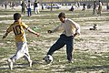 Playing soccer on a sunny, peaceful day in Kabul (4445083227).jpg