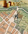 Plaza de Santa Bárbara, Plano de Madrid hacia 1705 (cropped).jpg