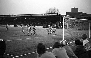 Wimbledon F.C. - Wimbledon take on Oxford United at Plough Lane in a Third Division match during 1981–82