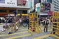Police ready announcement in CWB Protest area 20141215.jpg