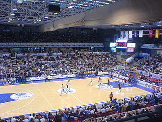 CB Valladolid - CB Valladolid in a game versus Caja San Fernando at the Polideportivo Pisuerga in 2007