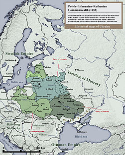 Polish Lithuanian Ruthenian Commonwealth 1658 historical map.jpg