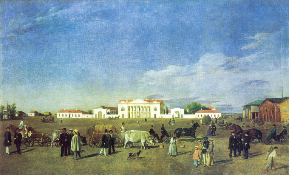 Poltava 1850 Main Square