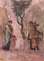 L amour puni  . Fresque du premier style, copie d un original grec.