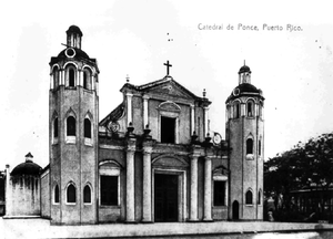 1839 in architecture - Ponce Cathedral with original façade