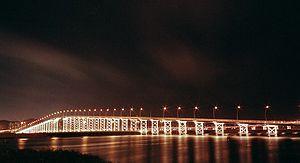 Governador Nobre de Carvalho Bridge - Governador Nobre de Carvalho Bridge at night