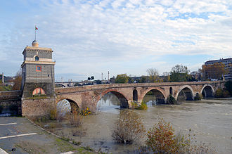 Ponte Milvio - Ponte Milvio over the Tiber