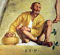 Pontormo, lunetta di vertumno e pomona, 1519-21, 11.jpg