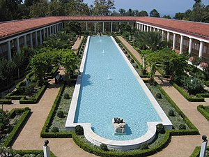 Pool at Getty Villa, Malibu, California