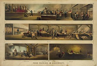 Meat packing industry - Pork packing in Cincinnati, 1873