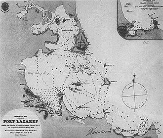 Wonsan - Map of Port Lazaref