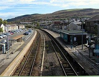 Porth railway station Railway station in Rhonda Cynon Taff, Wales
