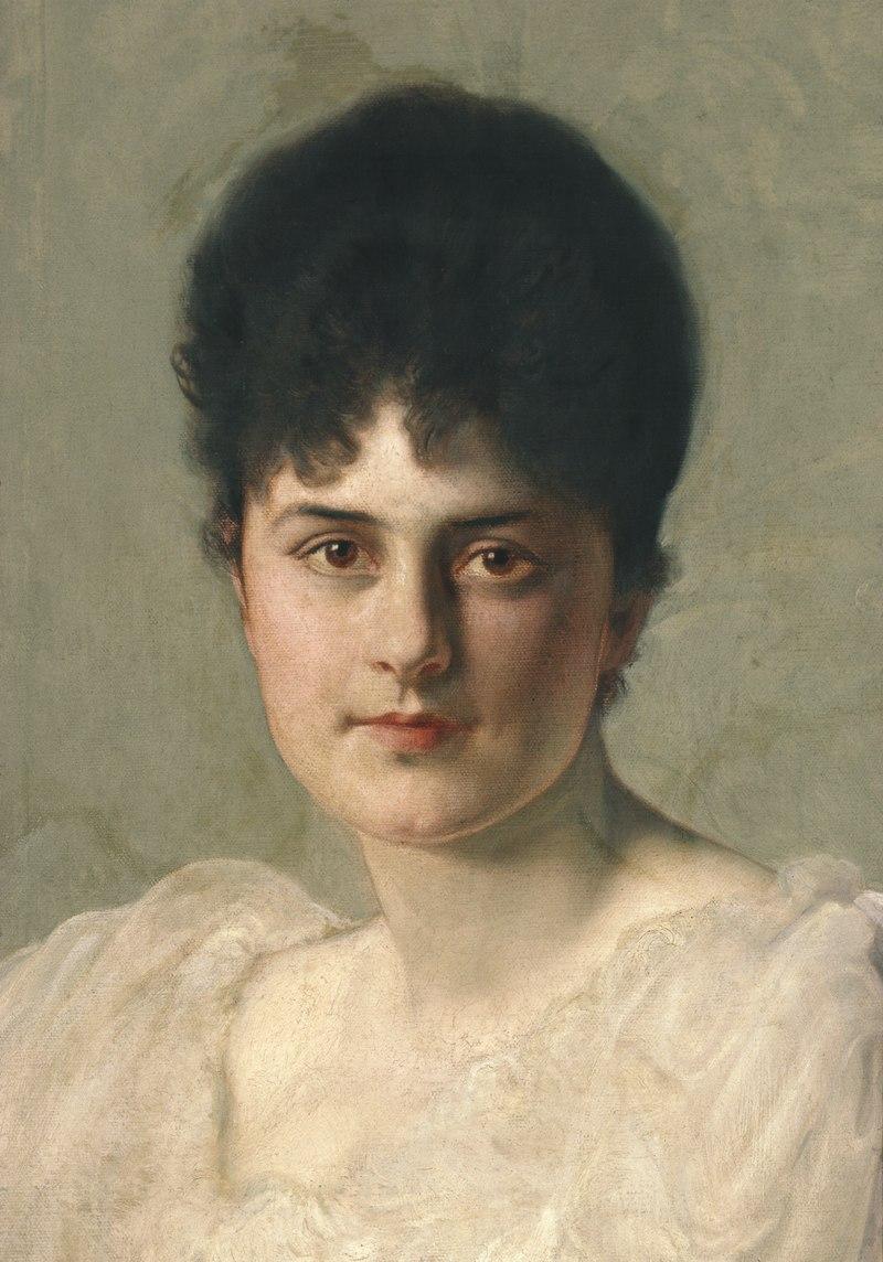 Porträttmålning, Ellen de Maré, född von Hallwyl - Hallwylska museet - 55910.tif