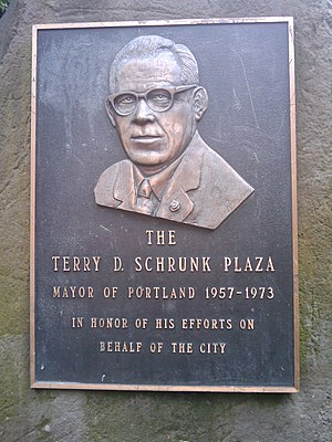 Terry Schrunk - Image: Portrait from Terry Schrunk Plaza
