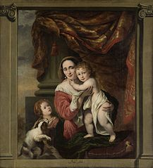 Caritas: Johanna de Geer (1629-91) with her children Cecilia Trip (1660-1728) and Laurens Trip (b 1662)