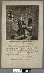 Reformation began in Denbighshire anno 1741. Newgate Febry 24th 1741