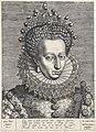 Portret van Catharina van Bourbon Vrouwen uit de tijd van Hendrik IV (serietitel), RP-P-1951-577.jpg