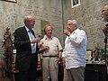 Posol USA poet K.Kedrov U.Lubimov Teatr Taganka 15.07.09.jpg