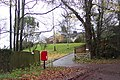Post box in a layby near Seven Springs - geograph.org.uk - 286093.jpg