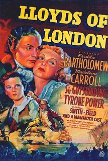 <i>Lloyds of London</i> (film) 1936 film by Henry King