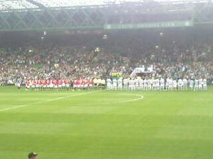 John Kennedy (Scottish footballer) - Celtic and Man United lining up before the John Kennedy's testimonial match, 9 August 2011