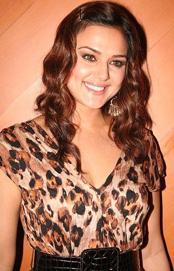 English: Indian actress Preity Zinta