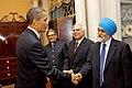 President Obama Shakes Hands With Dr. Montek Singh Ahluwalia (4699436947).jpg