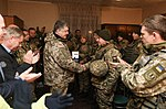 President of Ukraine Petro Poroshenko congratulated Ukrainian warriors on New Year and Christmas and heard the report on the situation in the ATO area, 31 December 2016 (1).jpg