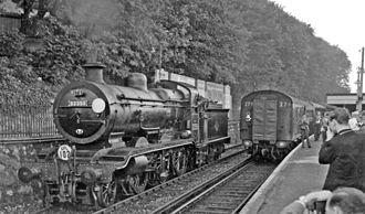 Preston Park railway station - RCTS railtour in 1962.