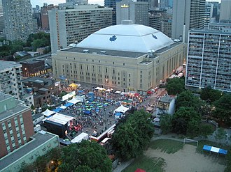 Maple Leaf Sports & Entertainment - Maple Leaf Gardens, the former home of the Toronto Maple Leafs, after which MLGL was named