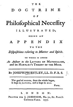 The Doctrine of Philosophical Necessity Illustrated - Title page from Joseph Priestley's Philosophical Necessity