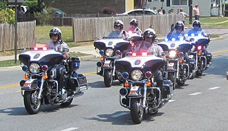 Prince George's County Police Department - PGPD motorcycle units in July 2012.
