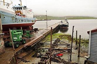 Shetland bus - Prince Olav slipway in 2010
