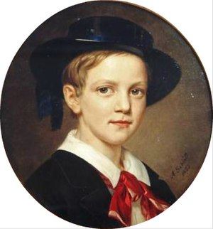 George I of Greece - Portrait by August Schiøtt, 1853