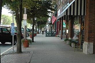Princeton, Illinois - South historic Main Street district in Princeton, Illinois.