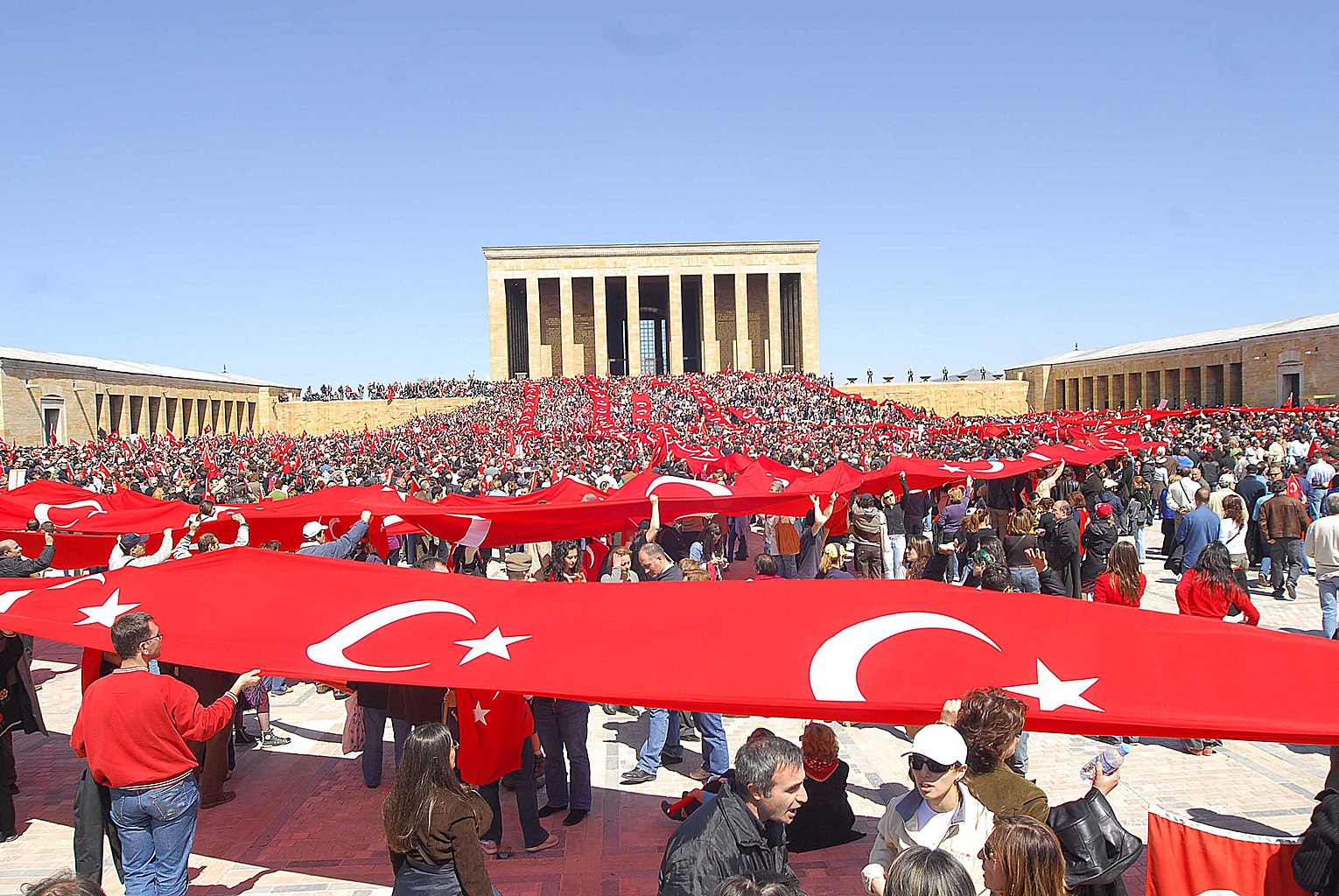 Pro-Laizismus-Demonstration in Ankara (2007)