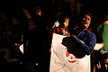 Protesters at Shahbag child & father.JPG