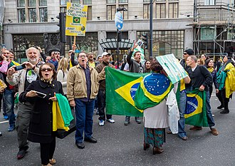 Jair Bolsonaro - Bolsonaro supporters in London, 7 October 2018