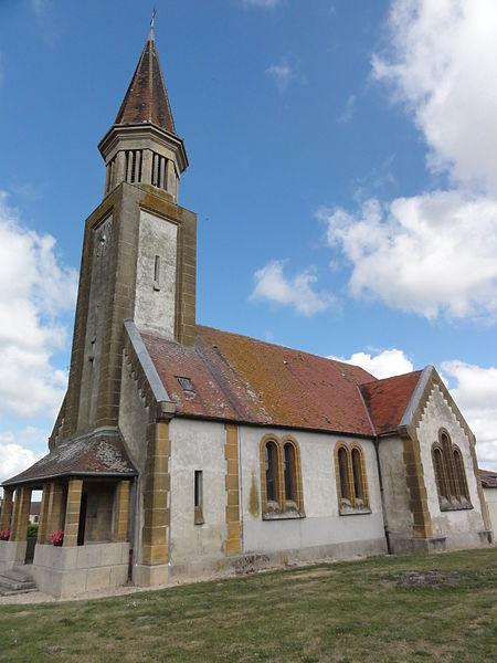Proviseux-et-Plesnoy (Aisne) église de Proviseux