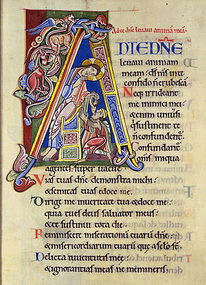 Psalm 25 - Image: Psalm 24 Initial A